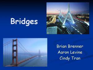 Bridges Brian Brenner Aaron Levine Cindy Tran Some