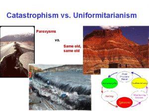 Catastrophism vs Uniformitarianism Paroxysms vs Same old same