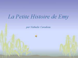 La Petite Histoire de Emy par Nathalie Curadeau