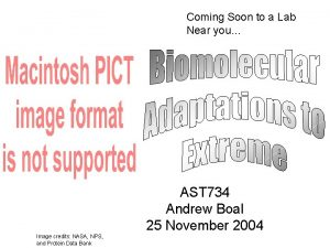 Coming Soon to a Lab Near you AST
