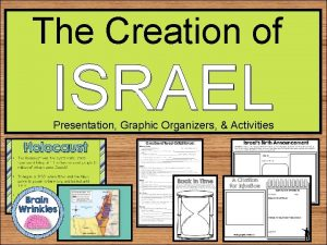 The Creation of ISRAEL Presentation Graphic Organizers Activities