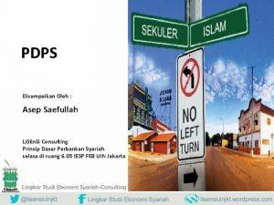 PDPS Disampaikan Oleh Asep Saefullah Li SEn Si