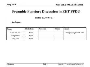 Aug 2020 doc IEEE 802 11 201150 r