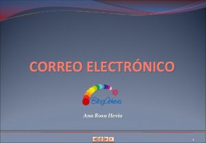 CORREO ELECTRNICO Ana Rosa Hevia F 1 Contenido