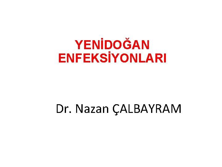 YENDOAN ENFEKSYONLARI Dr Nazan ALBAYRAM YENDOAN ENFEKSYONLARI 1