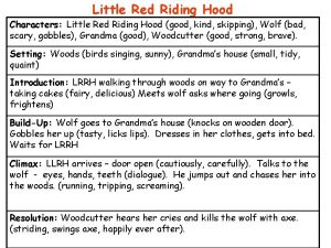 Little Red Riding Hood Characters Little Red Riding