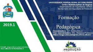 UNIVERSIDADE FEDERAL RURAL DO SEMIRIDO Centro Multidisciplinar de