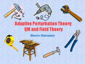 Adaptive Perturbation Theory QM and Field Theory Marvin