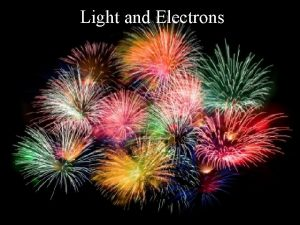 Light and Electrons Electromagnetic Radiation Light is electromagnetic