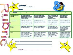Role Play Rubric Telephone Conversation Role Play Student