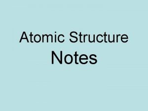 Atomic Structure Notes History of the Atom 1808