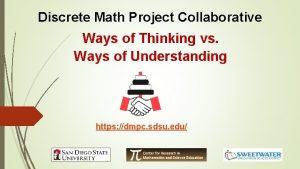 Discrete Math Project Collaborative Ways of Thinking vs