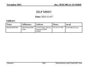 November 2013 doc IEEE 802 11 131338 r