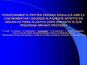 POSIZIONAMENTO PROTESI PENIENA IDRAULICA AMS CX CON MOMENTARY