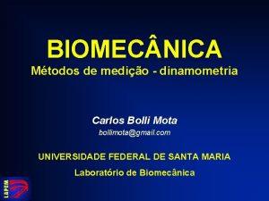 BIOMEC NICA Mtodos de medio dinamometria Carlos Bolli