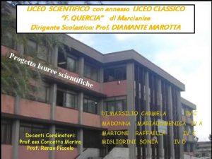 LICEO SCIENTIFICO con annesso LICEO CLASSICO F QUERCIA