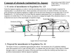 Concept of obstacle submitted by Japan 1 01