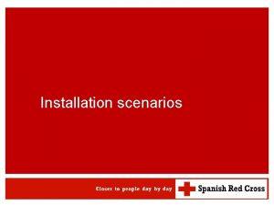 Installation scenarios WATSAN M 15 ERU Installation scenarios