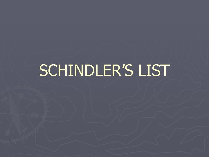 SCHINDLERS LIST WEIMER GOVERNMENT STRUGGLES AFTER WWI GERMANY