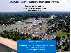 The Genesee River Watershed Remediation Study Watershed Symposium