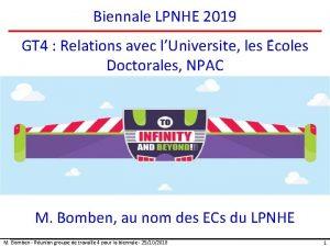 Biennale LPNHE 2019 GT 4 Relations avec lUniversite