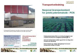 Fagforum Potet www potet no Transportveiledning Nasjonal bransjestandard
