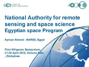 National Authority for remote sensing and space science