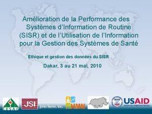 Amlioration de la Performance des Systmes dInformation de
