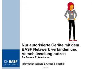 Nur autorisierte Gerte mit dem BASF Netzwerk verbinden