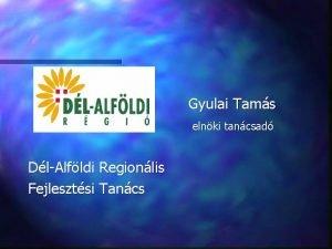Gyulai Tams elnki tancsad DlAlfldi Regionlis Fejlesztsi Tancs