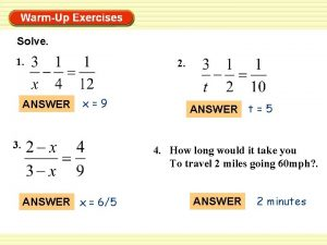 Solve 1 ANSWER 2 x9 3 ANSWER t