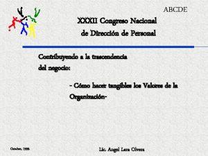 XXXII Congreso Nacional de Direccin de Personal ABCDE