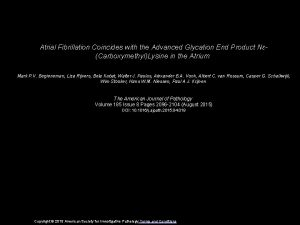 Atrial Fibrillation Coincides with the Advanced Glycation End