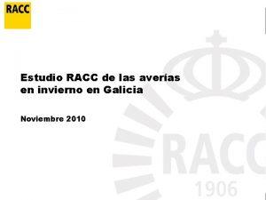 Estudio RACC de las averas en invierno en