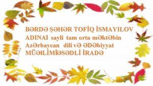 BRD HR TOFQ SMAYILOV ADINA 1 sayli tam
