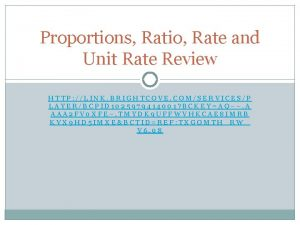 Proportions Ratio Rate and Unit Rate Review HTTP