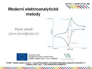 Modern elektroanalytick metody Pavel Jano pavel janosujep cz