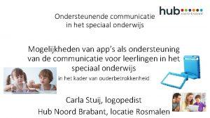 Ondersteunende communicatie in het speciaal onderwijs Mogelijkheden van