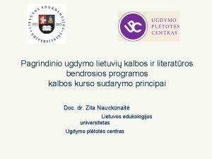 Pagrindinio ugdymo lietuvi kalbos ir literatros bendrosios programos