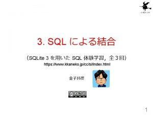 3 SQL SQLite 3 SQL https www kkaneko