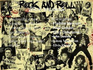 Rok muzika Rok muzika anr Rok legende popularne