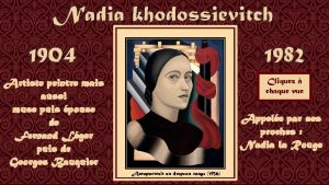Nadia khodossievitch 1904 1982 Artiste peintre mais aussi
