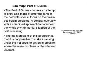 Ecomaps Port of Durres The Port of Durres