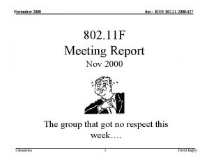 November 2000 doc IEEE 802 11 2000427 802
