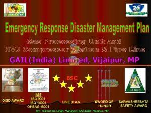 BSC IMS ISO 9001 OISD AWARD ISO 14001