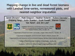 Mapping change in live and dead forest biomass