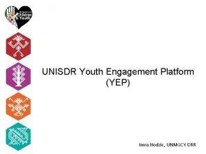 UNISDR Youth Engagement Platform YEP Imra Hodzic UNMGCY