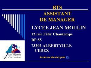 BTS ASSISTANT DE MANAGER LYCEE JEAN MOULIN 12