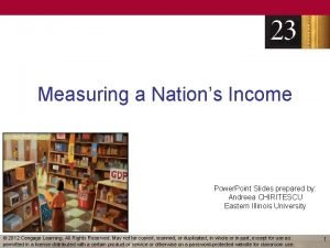 Measuring a Nations Income Power Point Slides prepared
