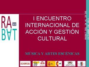 MSICA Y ARTES ESCNICAS RABAT DEL 24 AL